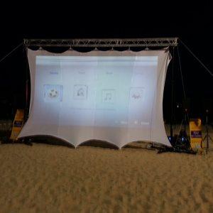 Ecran blanc vidéo Lycra 10m x 4m