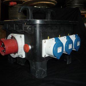 Armoire électrique 63Ampères 3 sorties 32 tri 8 PC 32 mono