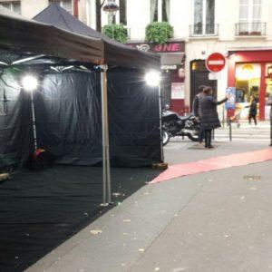 Tente noire pliable 3x3