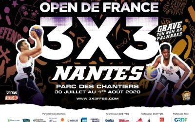 Mise en scene finale nationale de basket 3 x 3 à Nantes du 30 Juillet au 1er Août 2020